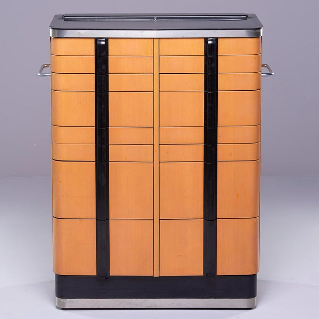 Art Deco Era Medical Cabinet in Maple and Black For Sale - Image 13 of 13