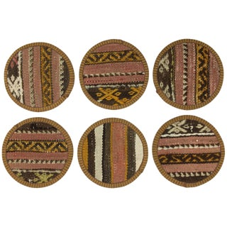 Kilim Coasters Set of 6 | Araracıoğlu For Sale