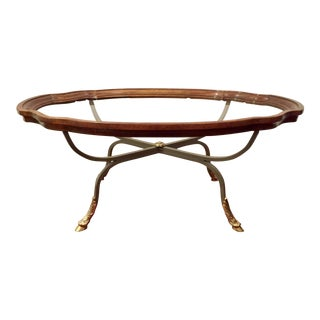 1990s American Classical Drexel Heritage Claw Foot Coffee Table For Sale
