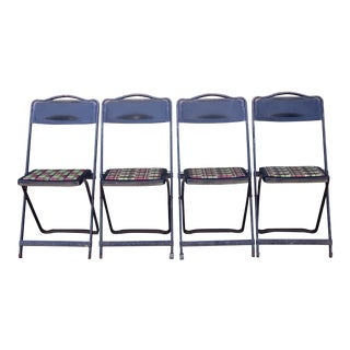 1960s Vintage Folding Chairs- Set of 4 For Sale