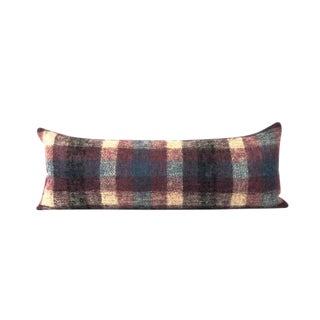 Purple Plaid Mohair Bed Accent Pillow