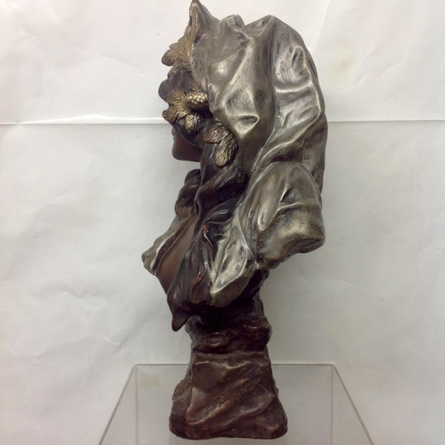 1899 Polychrome Sculpture by Blasche l'Hiver For Sale - Image 5 of 7
