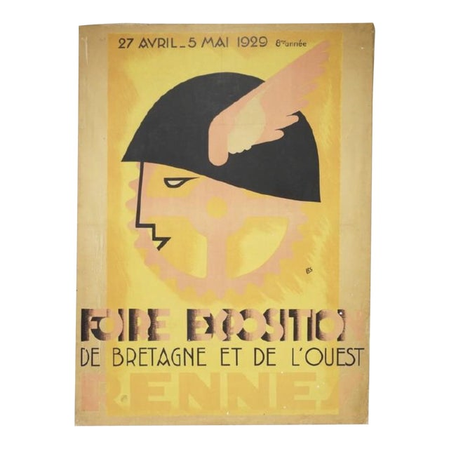 1929 Fiore Exposition De Rennes (France) Print on Canvas - Image 1 of 3