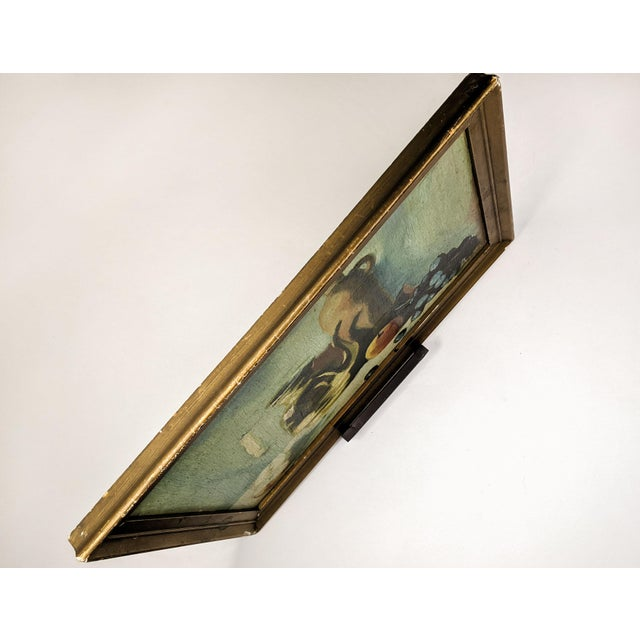 Vintage Oil Still Life Painting With Gold Frame For Sale In New York - Image 6 of 7