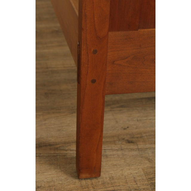 Stickley Mission Collection King Size Cherry Panel Bed For Sale - Image 9 of 12