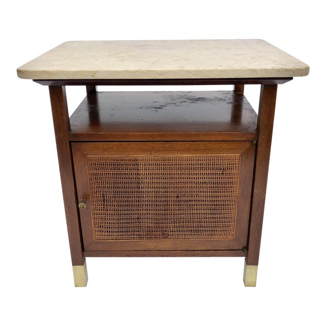 Mid-Century Modern Paul McCobb Manner Walnut Side Table For Sale