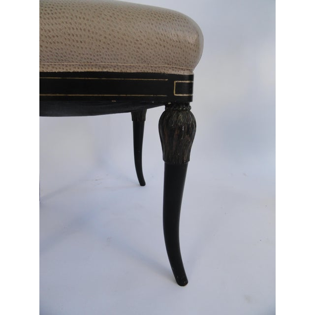 Mid 20th Century Vintage Mid Century Maison Jansen Side Chairs - Set of 4 For Sale - Image 5 of 11