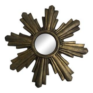 1940s Ceramic Sunburst Mirror For Sale
