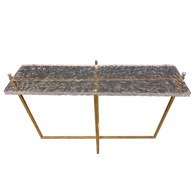 Mr Brown Modern Contemporary Jensen Console Table For Sale - Image 4 of 4