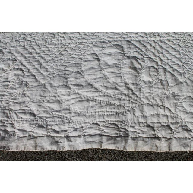 White Antique Quilt 19th Century Delectable Mountains Quilt For Sale - Image 8 of 9