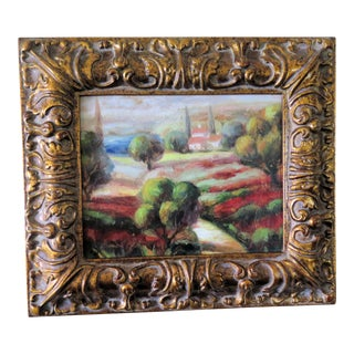French Impressionist Painting, Signed Lopez For Sale
