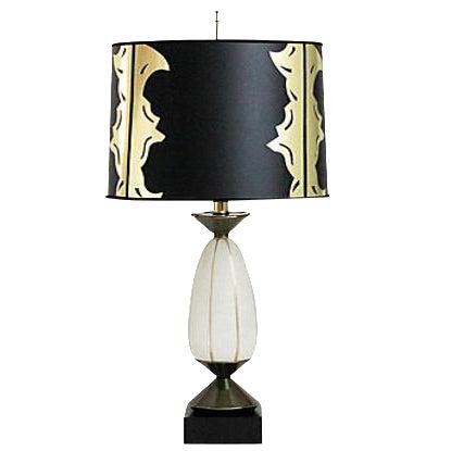 Hollywood regency glass lamp w shade chairish hollywood regency glass lamp w shade image 1 of 8 aloadofball Gallery