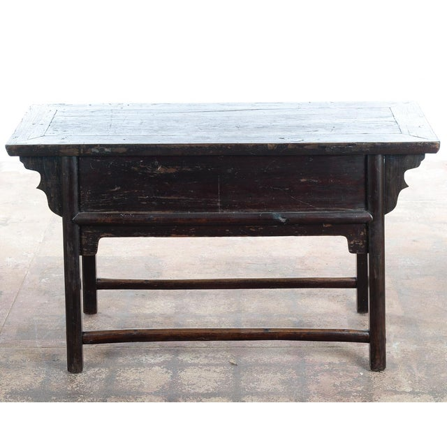 Chinese Antique Wooden Altar Table With Drawers For Sale - Image 9 of 10