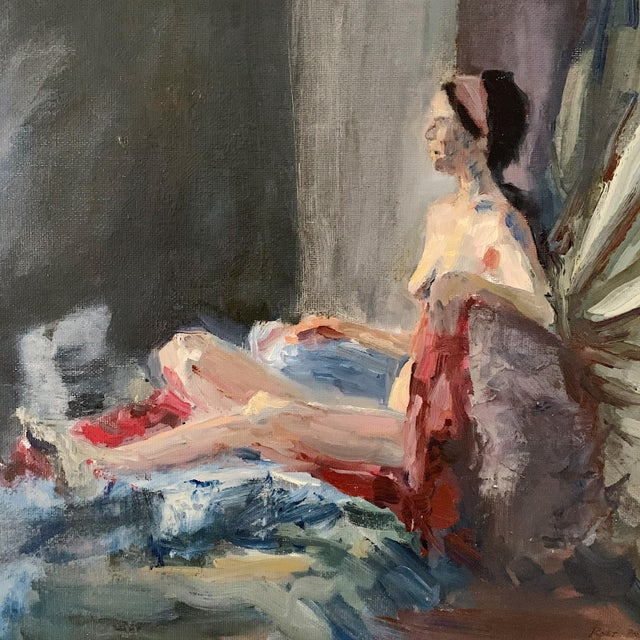 "Figurative ""Elizabeth"" Oil on Canvas Panel Painting by Clinton Rost For Sale - Image 3 of 7"