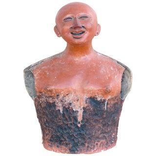 Jorge Marin 20th Century Terracotta Sculpture, Colombian Influenced For Sale