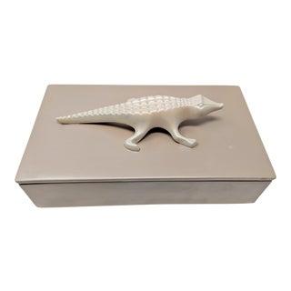 Ceramic Pearlized Finish Alligator Box