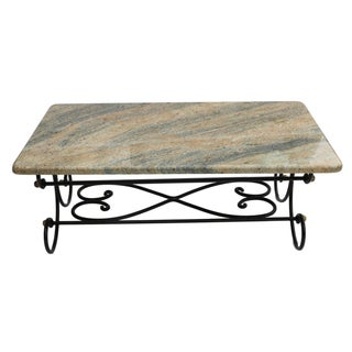 Granite Topped Coffee Table For Sale