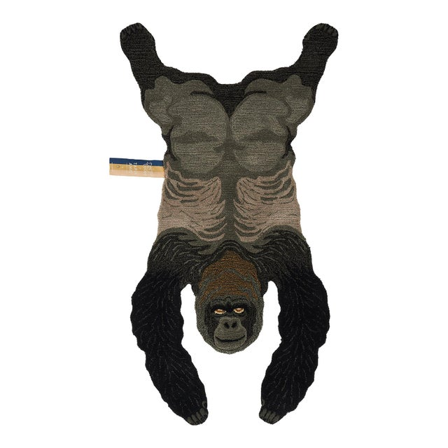 Doing Goods Groovy Gorilla Rug Large For Sale - Image 6 of 6