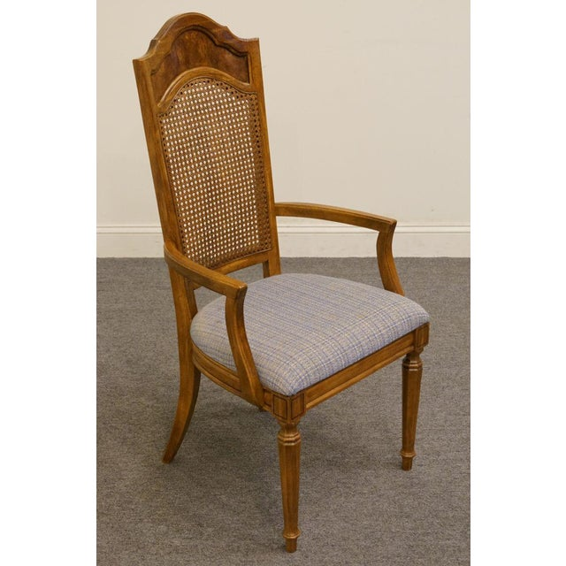 Thomasville Late 20th Century Vintage Thomasville Furniture Romano Collection Cane Back Dining Chair For Sale - Image 4 of 10