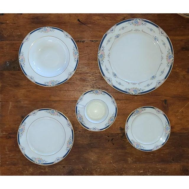 6 Piece Service for 12 Lenox Abigail Porcelain China Dinnerware Set, 1990s ~ Mint ~ For Sale - Image 12 of 13
