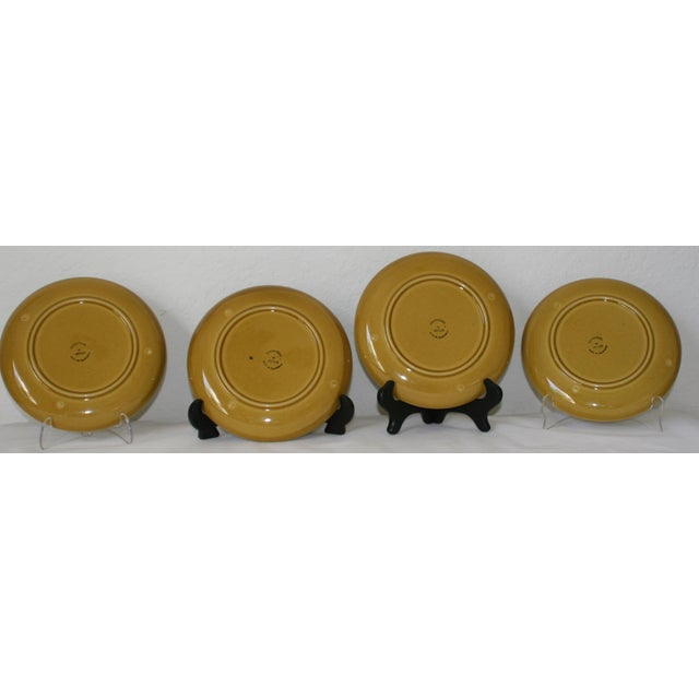 Vintage Metlox Poppytrail California Pottery Luncheon Plates - Set of 4 - Image 4 of 7