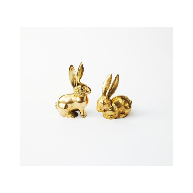 Vintage Brass Rabbit Figurines - A Pair - Image 2 of 6