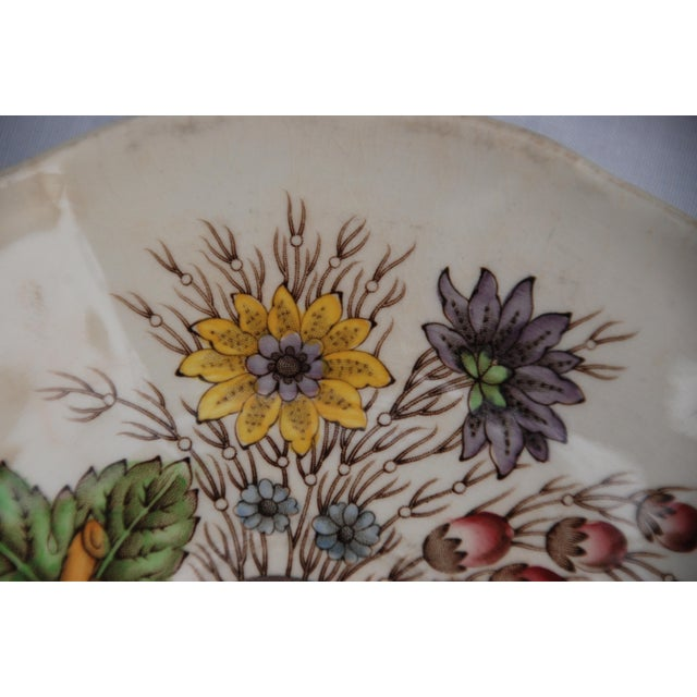 1950s Vintage English Cottage Style Spode Saucer in the Reynolds Pattern For Sale - Image 5 of 8