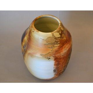 American Vintage Earthenware Clay Vase Brown, White & Beige Manner of Nemadji Preview