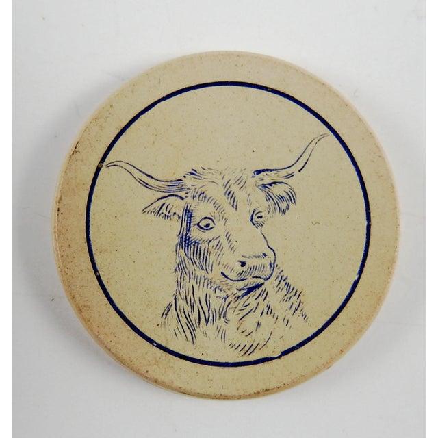 Antique Clay Poker Chips Longhorn Steer - Set of 2 For Sale - Image 4 of 4
