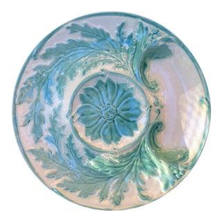 Majolica Green Artichoke Plate