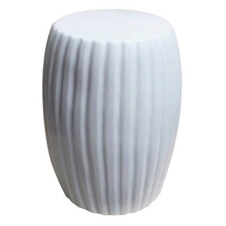 White Porcelain Pumpkin Stool