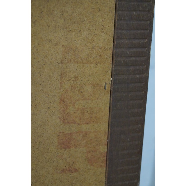 Mid-Century Modern Walnut Rectangular Wall Mirror - Image 7 of 10