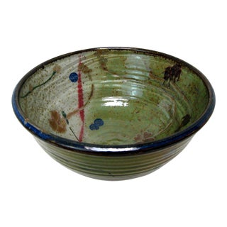 David Hendley Large Pottery Bowl For Sale