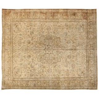 """Hand-Knotted Tabriz Rug - 10'1"""" x 11'11"""""""