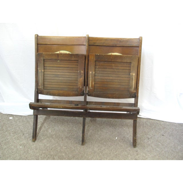 Pre War Seven Island Club Cigars Folding Double Bench For Sale In Portland, OR - Image 6 of 9
