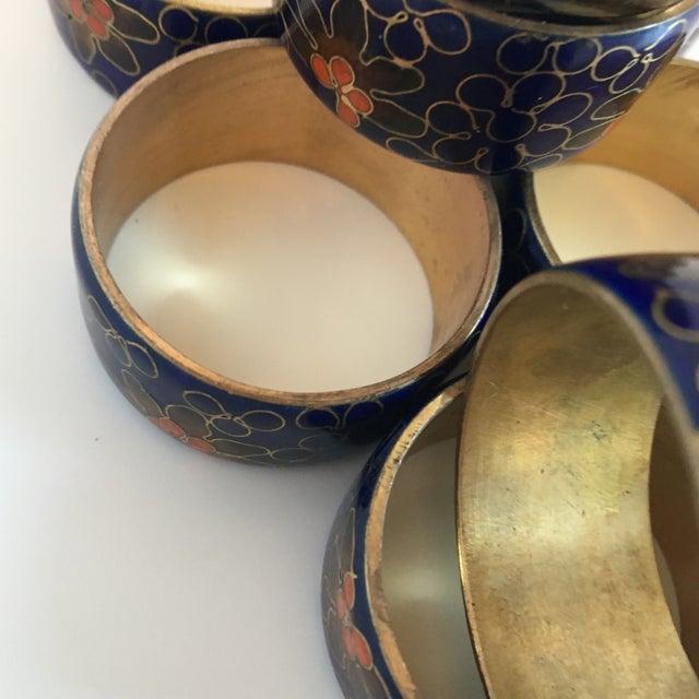 Blue Cloisonné Napkin Rings - Set of 8 - Image 4 of 8