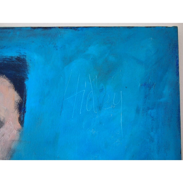 Original Charles Li Hidley Abstract Expressionist Lady Portrait Oil on Canvas Painting For Sale In Philadelphia - Image 6 of 9