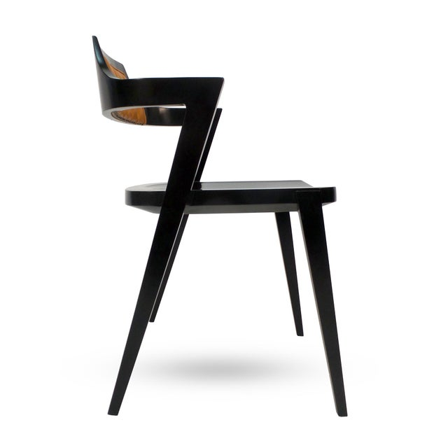 Black Stacking Armchair For Sale - Image 8 of 8