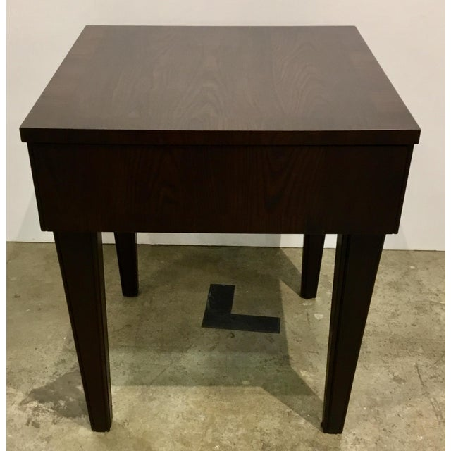 Thomas O'Brien for Hickory Chair Dark Walnut Wood Finished Accent Table