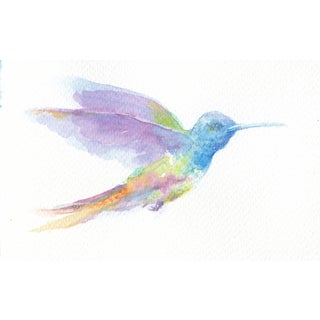 Alexander MacFaul Painting, 'Hummingbird, Violet and Green' For Sale