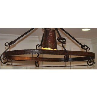 Wrought-Iron Oval Light Fixture / Chandelier Preview