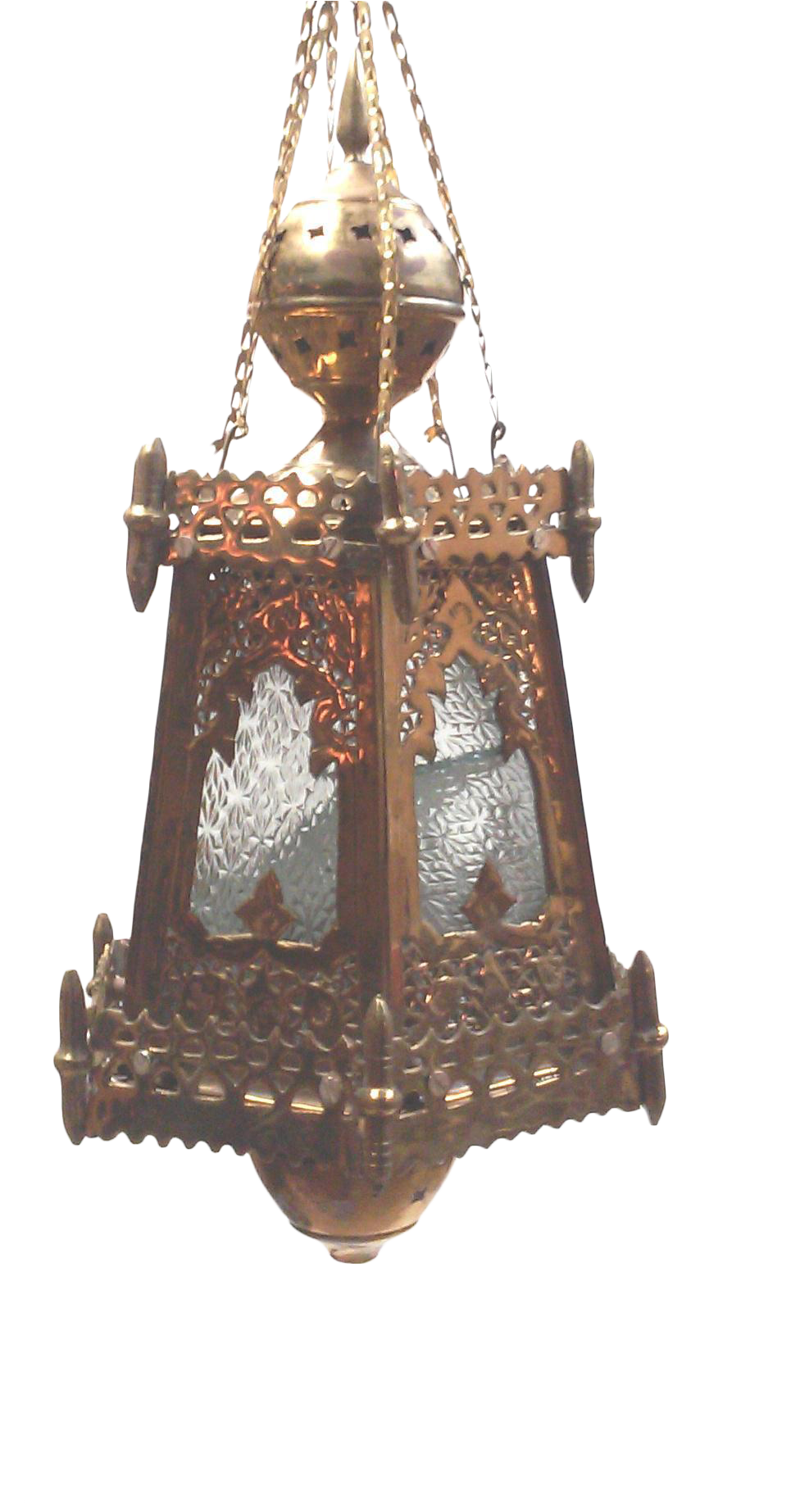 Solid Brass Hanging Decorative Moroccan Lantern