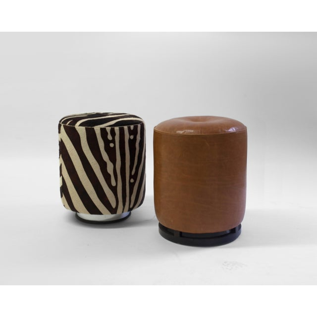 The Colle Pouf is 1 of two poufs we offer in our LF Collection - it is shown in brown leather and faux skin but can...
