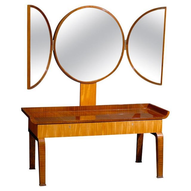Swedish Art Deco Moderne Dressing Table attributed to Boet For Sale - Image 11 of 11