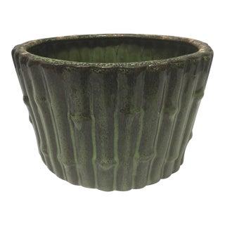 Mid Century Ceramic Bamboo Planter For Sale