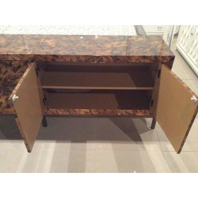 Mid-Century Modern Brass Tortoise Shell Sideboard For Sale - Image 10 of 12