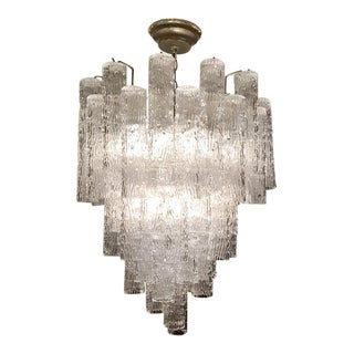 1950s Venini Tronchi Design Murano Chandelier For Sale