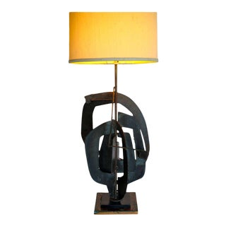 Harry Balmer Brutalist Welded Steel Table Lamp For Sale