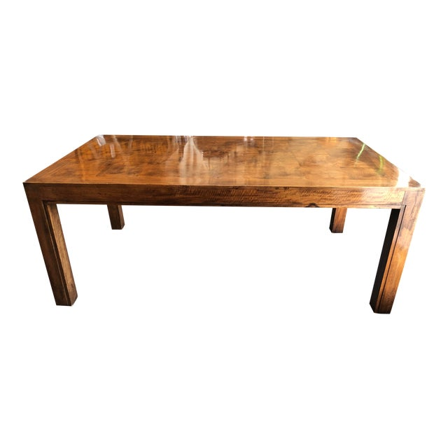 Custom Parquet Extension Dining Table For Sale