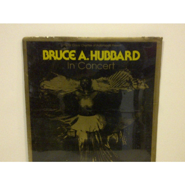 Americana Vintage Bruce A. Hubbard Concert Poster For Sale - Image 3 of 4